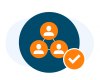 Grouped Leads Icon with bg